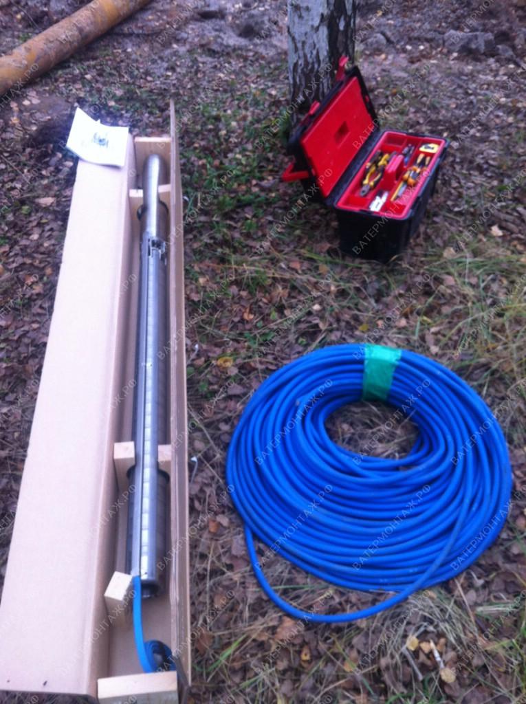 Специальный водо погружной кабель Grundfos для трехфазных скважинных насосов