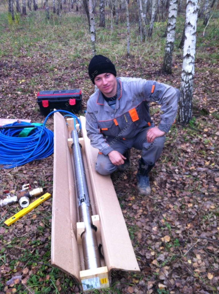 Подготовка к обвязке промышленного погружного скважинного насоса Grundfos SP
