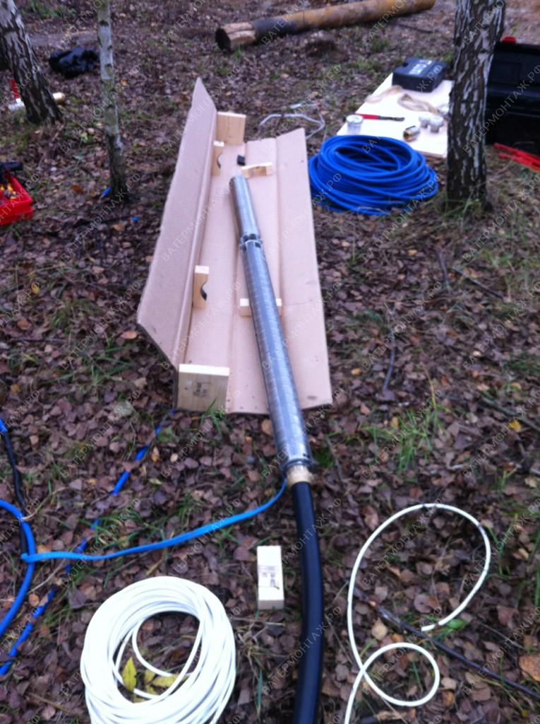 Подключение трубы к скважинному насосу Grundfos SP