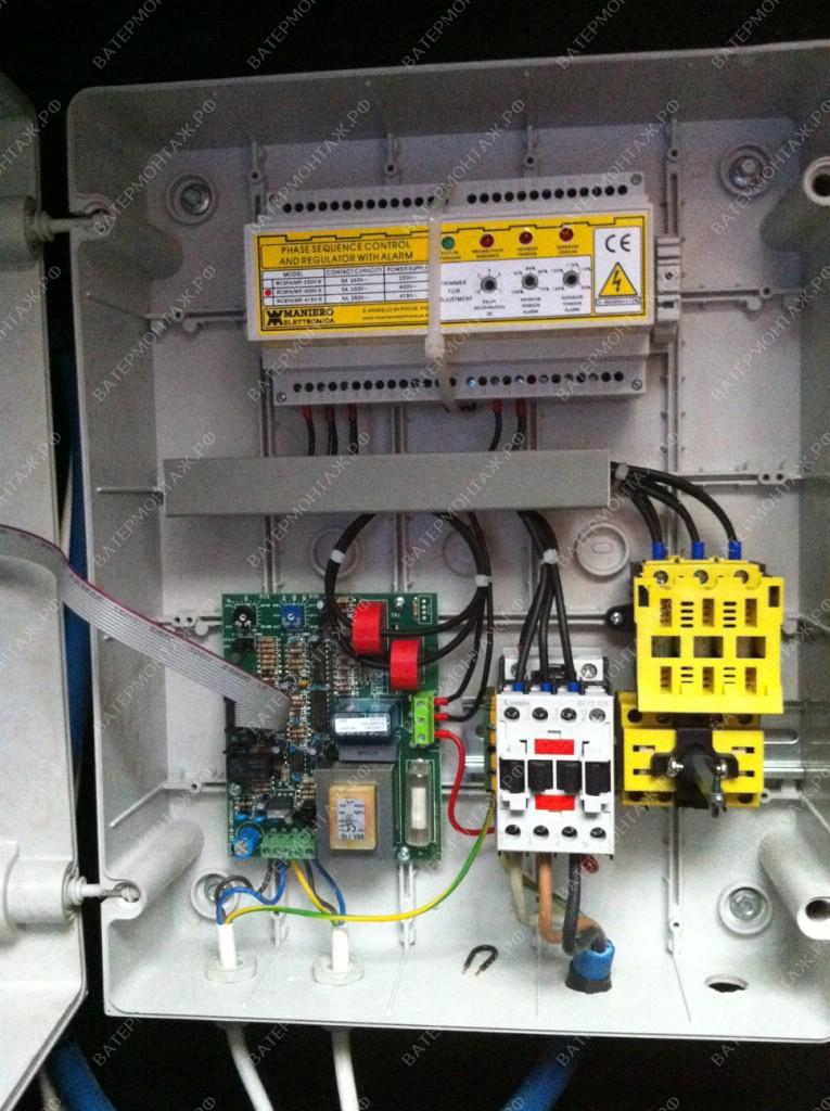 Установка шкафа управления Maniero QA62/C, 0,55 - 7,0 кВт, 380 В (Италия)