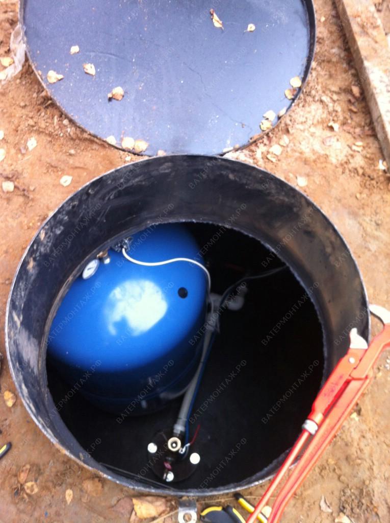 Установка кессона с монтажом оборудования закончена в заранее оговоренные сроки