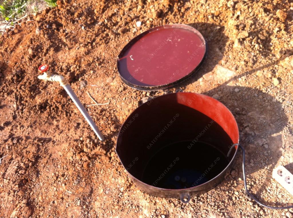 Вывод летнего поливочного водопровода с краном.