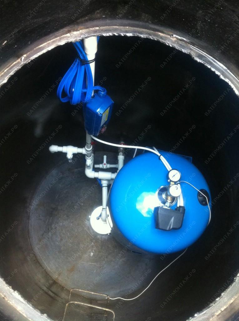 В кессоне устанавливается все водоподъемное оборудование.