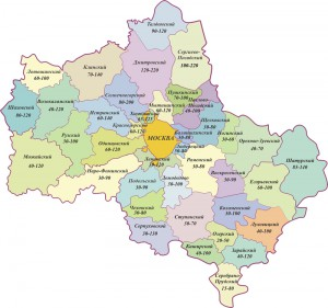 Карта глубин скважин в Московской области