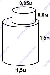 Металлический кессон диаметром 1,5 метра для скважины БУТЫЛКА