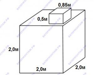 Металлический квадратный погреб 2х2 метра для дома и дачи.