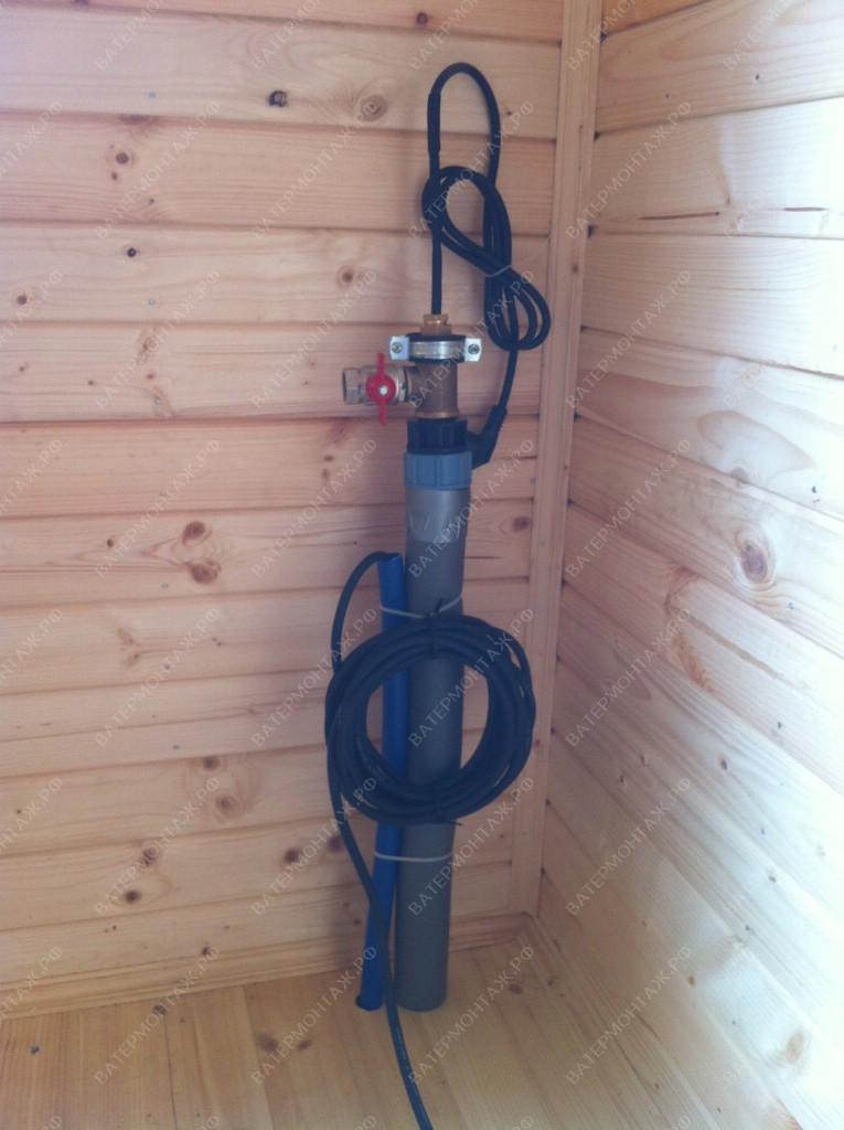 водопровод от скважины в дом
